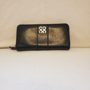 Coach Black Leather Zip Around Wallet
